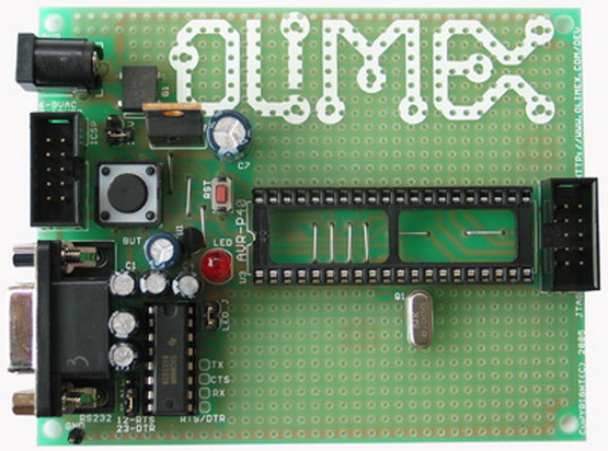 Avr Atmel Prototype Board Attiny2313 With Components Picture.